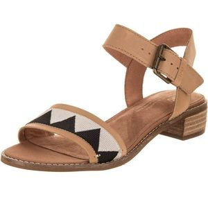 Toms Camilia Leather Honey Tribal Sandals